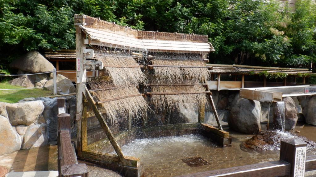 嬉野温泉の源泉を冷やす装置
