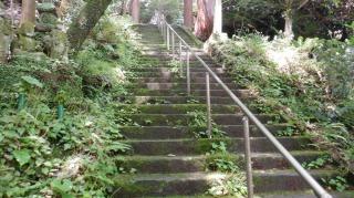 文殊仙寺本殿へ続く階段の途中