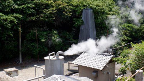 堀田温泉の源泉塔