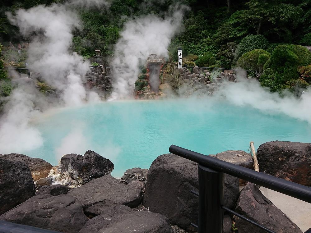 鉄輪温泉にある青い色の地獄