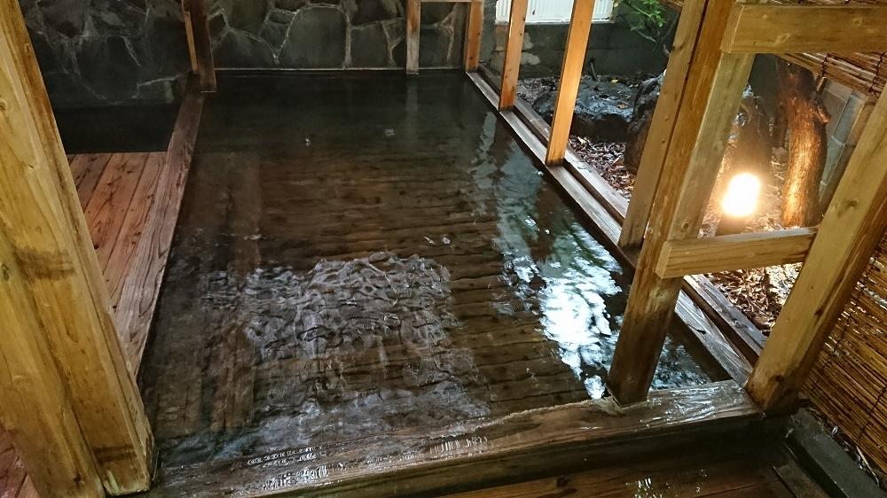 鉄輪温泉にある旅館の内湯