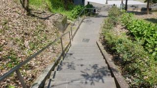 ホキ石仏第二群からの階段