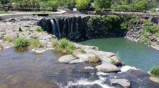 上から見た原尻の滝