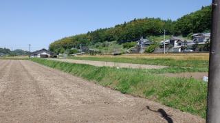原尻の滝周辺に広がる田畑