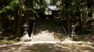 二ノ宮八幡社拝殿と階段