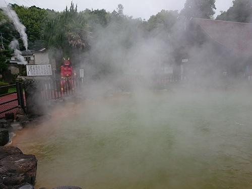 火山性温泉を利用した地獄めぐり