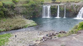 道の駅側から見た原尻の滝