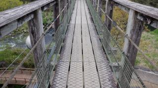 原尻の滝敷地内にある滝見橋