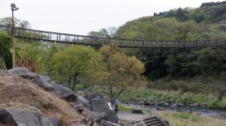 下から見た滝見橋