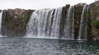 原尻の滝のかなり勢いがある部分