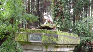 一ノ宮八幡社にある犬の像