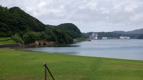 平戸公園から見た海の光景