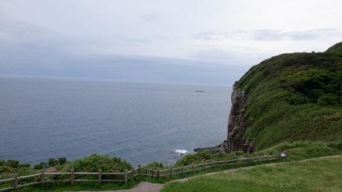 生月島内の崖が見える観光スポット