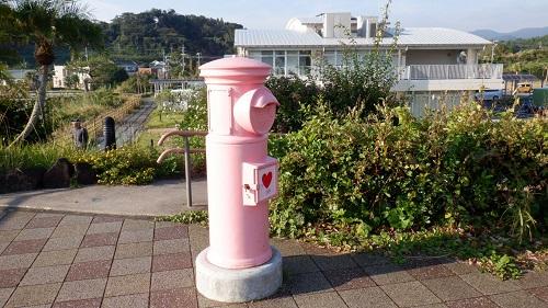 道の駅いぶすきのピンクのポスト