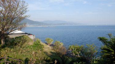 鹿児島県で訪問した道の駅からの光景