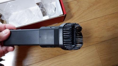 ブラシ付きハンディ掃除機接続部品