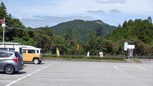 宮崎県の道の駅駐車場からの光景