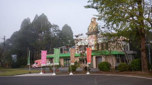 曾木の滝駐車場から見える建物
