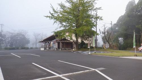 曾木の滝駐車場の光景