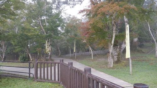 周辺は公園として整備されている曾木の滝