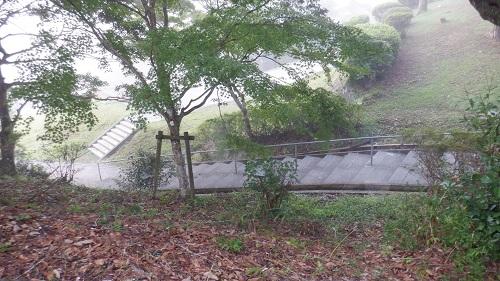 曾木の滝へと続く階段