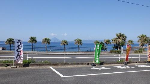 道の駅ねじめ駐車場から見た海