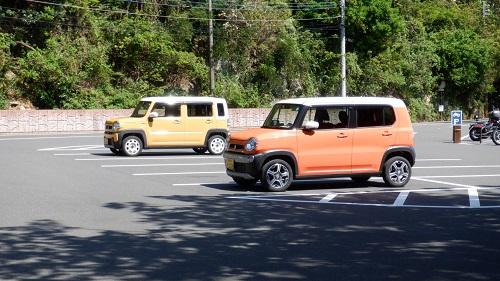 佐多岬駐車場の光景