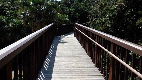 橋のようになっている佐多岬遊歩道