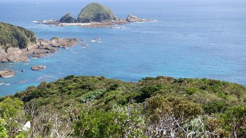 佐多岬展望台から見た周辺の光景