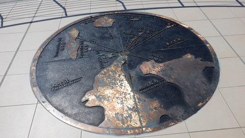佐多岬豊島の距離が書かれた地図