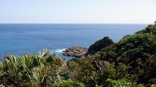 佐多岬灯台守官舎跡から見た光景
