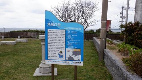 角島灯台の案内看板