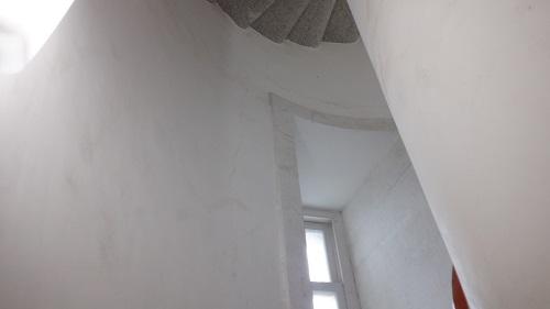 角島灯台内部の光景