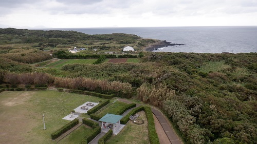 角島灯台展望台からの光景