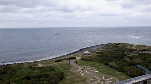 角島灯台展望台から見た海の光景