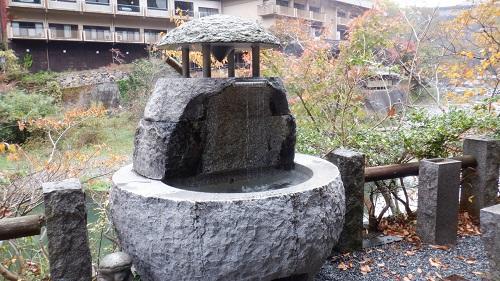 湯原温泉 砂湯近くにある手湯
