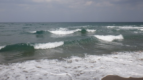 かなり荒波の日本海