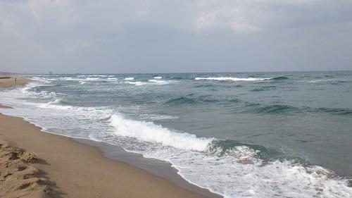 波が荒い日本海