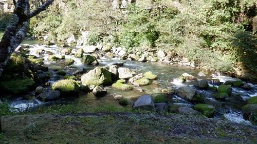 神川大滝から流れる川