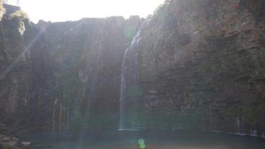 大隅半島にある雄川の滝全景