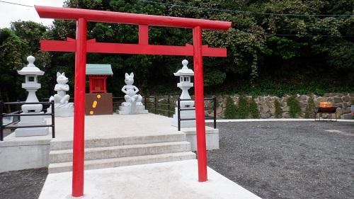 元の隅神社の拝殿