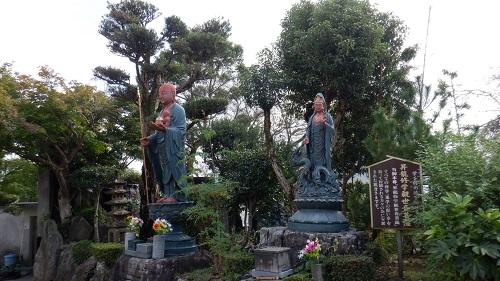 展望台の近くに置かれている昇龍修学観世音菩薩