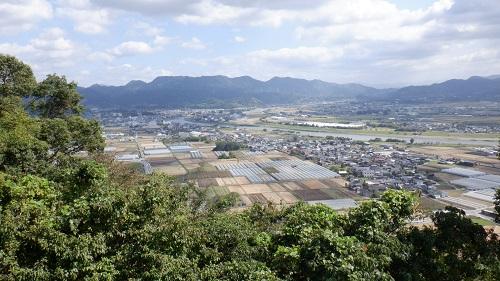 香山昇龍大観音展望台から見た原鶴温泉周辺