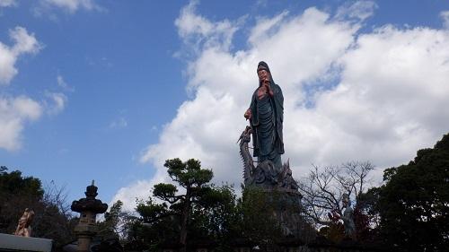 香山昇龍大観音の敷地内から見た光景