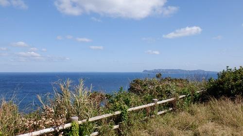 大バエ灯台周辺の光景