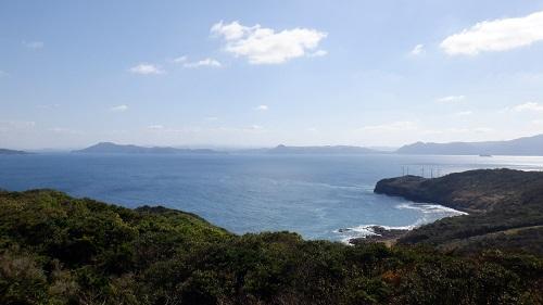 大バエ灯台展望台からの光景