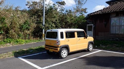 神崎鼻公園駐車場と愛車