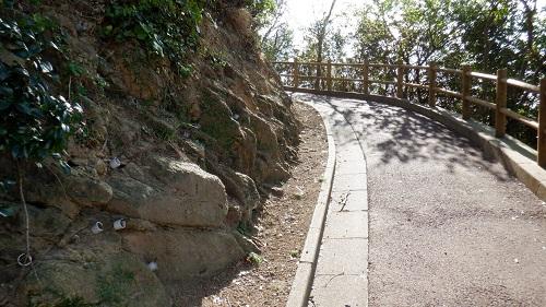 神崎鼻公園の上り坂になる遊歩道
