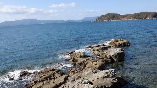 海岸から見える海の光景