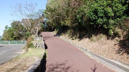 権現山展望台への遊歩道